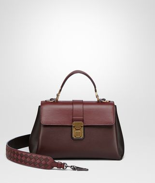 DARK BAROLO NAPPA SMALL PIAZZA BAG