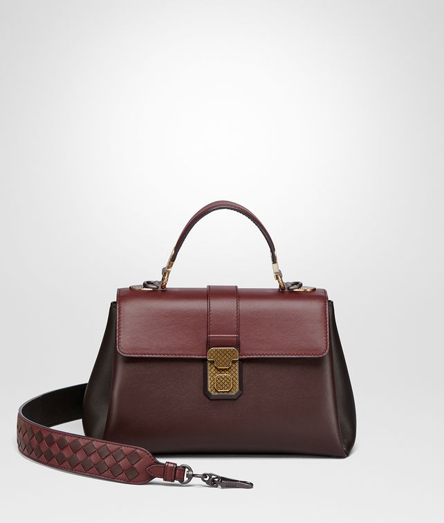 BOTTEGA VENETA DARK BAROLO NAPPA SMALL PIAZZA BAG Top Handle Bag [*** pickupInStoreShipping_info ***] fp