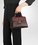 BOTTEGA VENETA DARK BAROLO NAPPA SMALL PIAZZA BAG Top Handle Bag D ap