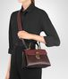 BOTTEGA VENETA DARK BAROLO NAPPA SMALL PIAZZA BAG Top Handle Bag Woman lp