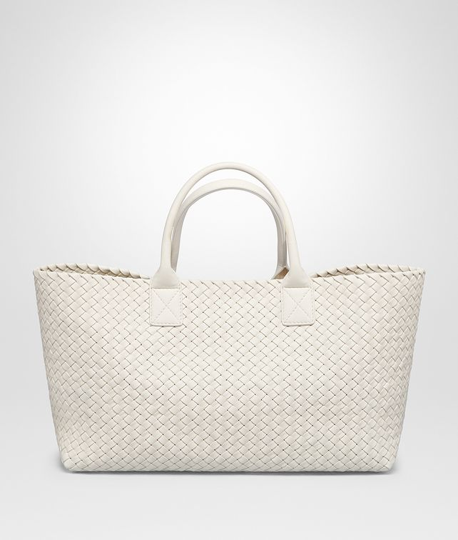 BOTTEGA VENETA LATTE NAPPA MEDIUM CABAT Tote Bag Woman fp