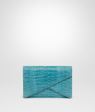 CLUTCH BV IN COCCODRILLO AQUA