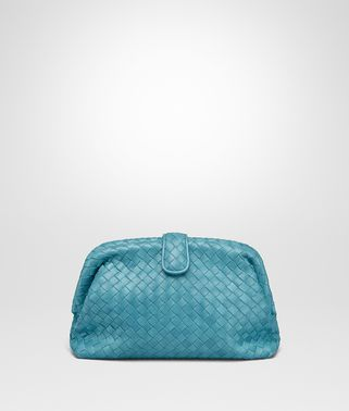 AQUA INTRECCIATO NAPPA TOP THE LAUREN 1980 CLUTCH