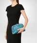 BOTTEGA VENETA AQUA INTRECCIATO NAPPA TOP THE LAUREN 1980 CLUTCH Clutch Woman ap