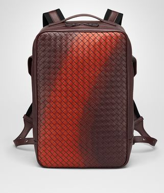 GALAXY BRICK RUCKSACK AUS INTRECCIATO NAPPA IN DARK BAROLO