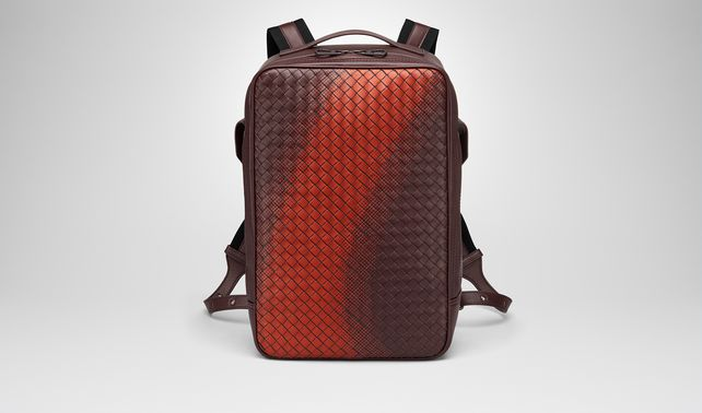 DARK BAROLO INTRECCIATO NAPPA GALAXY BRICK BACKPACK
