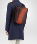 dark barolo intrecciato nappa galaxy brick backpack Front Detail Portrait