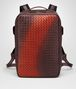 dark barolo intrecciato nappa galaxy brick backpack Front Portrait