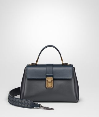ARDOISE NAPPA SMALL PIAZZA BAG