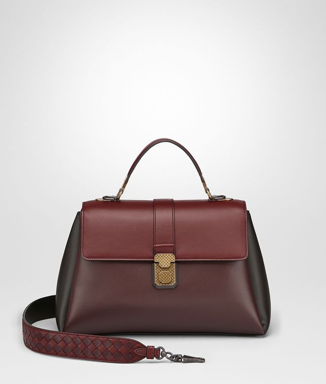 BOTTEGA VENETA BORSA PIAZZA MEDIA IN NAPPA BAROLO SCURO Borsa a Mano [*** pickupInStoreShipping_info ***] fp