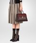 BOTTEGA VENETA DARK BAROLO NAPPA MEDIUM PIAZZA BAG Top Handle Bag D ap