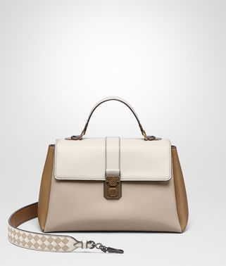 BORSA PIAZZA MEDIA IN NAPPA MINK