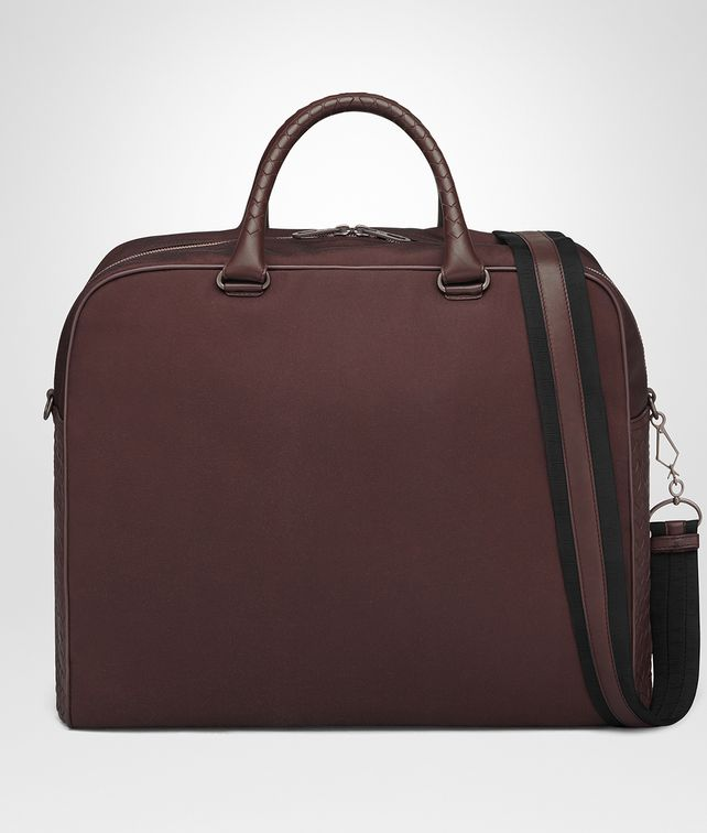 BOTTEGA VENETA DARK BAROLO CANVAS DUFFEL Luggage E fp
