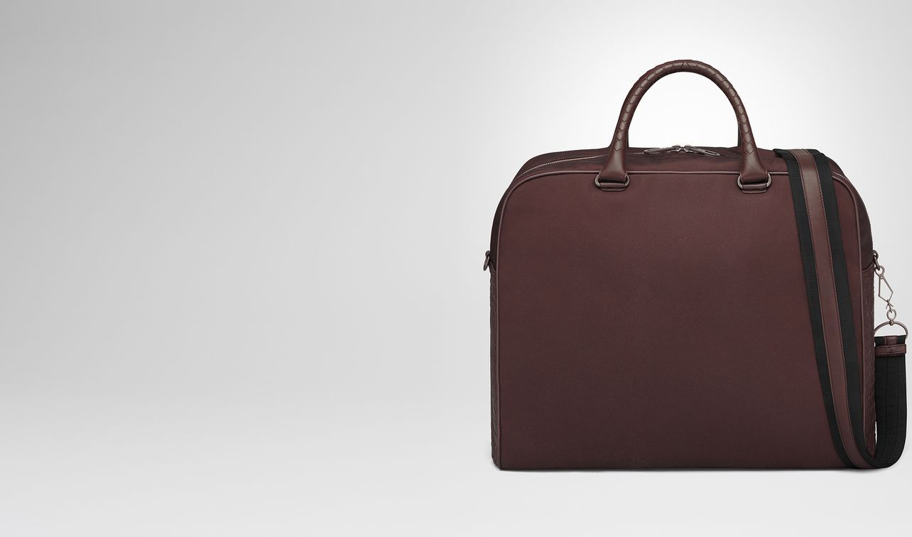 dark barolo canvas duffel landing