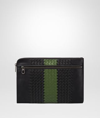 NERO IVY INTRECCIATO NAPPA DOCUMENT CASE