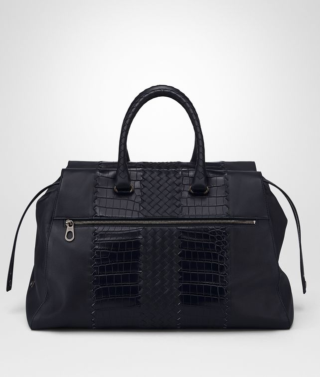 BOTTEGA VENETA TOURMALINE NAPPA CROCODILE DUFFEL Tote Bag [*** pickupInStoreShippingNotGuaranteed_info ***] fp