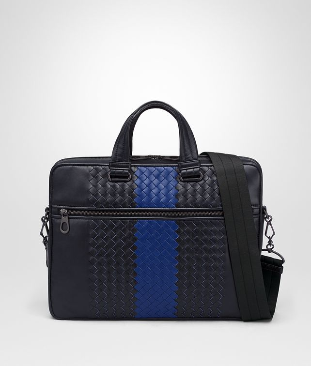 BOTTEGA VENETA TOURMALINE INTRECCIATO NAPPA BRIEFCASE Business bag Man fp