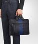 BOTTEGA VENETA TOURMALINE INTRECCIATO NAPPA BRIEFCASE Business bag Man lp