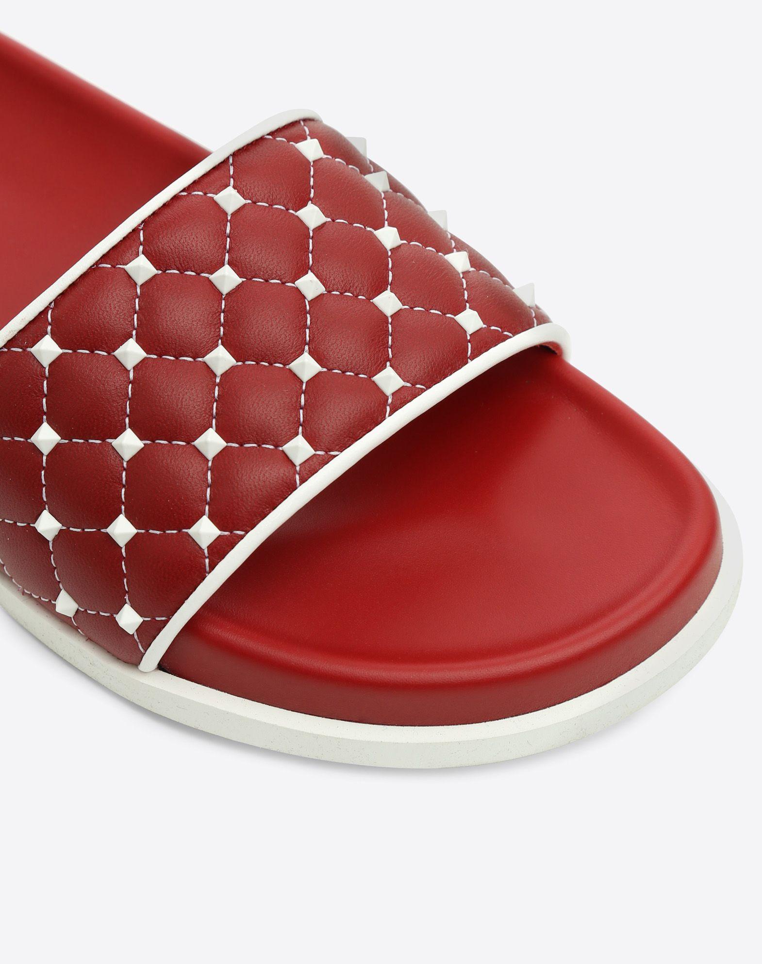 VALENTINO GARAVANI Free Rockstud Spike Slide Sandal Rubber slides D b