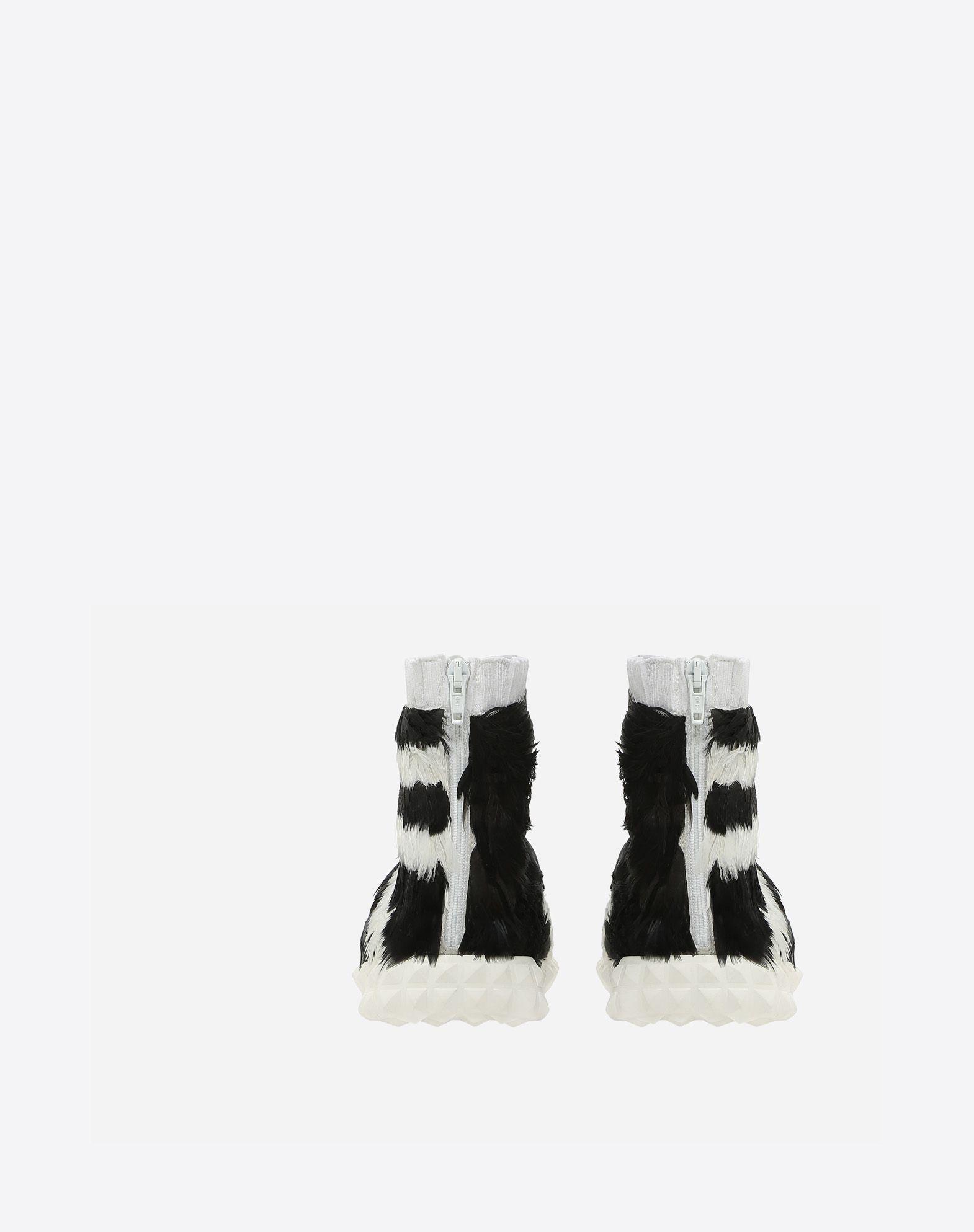 VALENTINO GARAVANI Sneakers con plumas SNEAKERS ALTAS D d