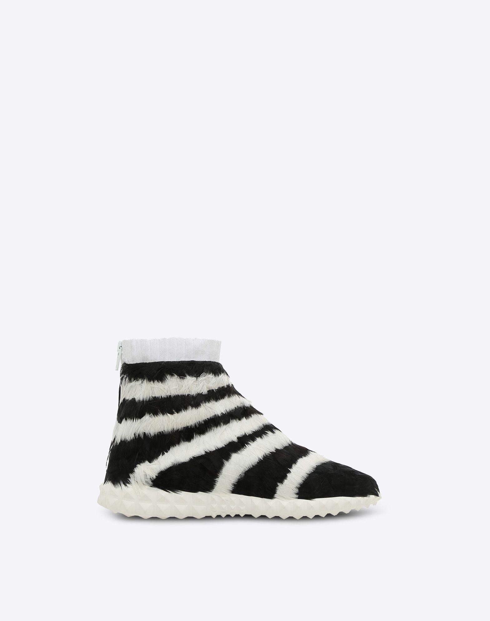VALENTINO GARAVANI Sneakers con plumas SNEAKERS ALTAS D f