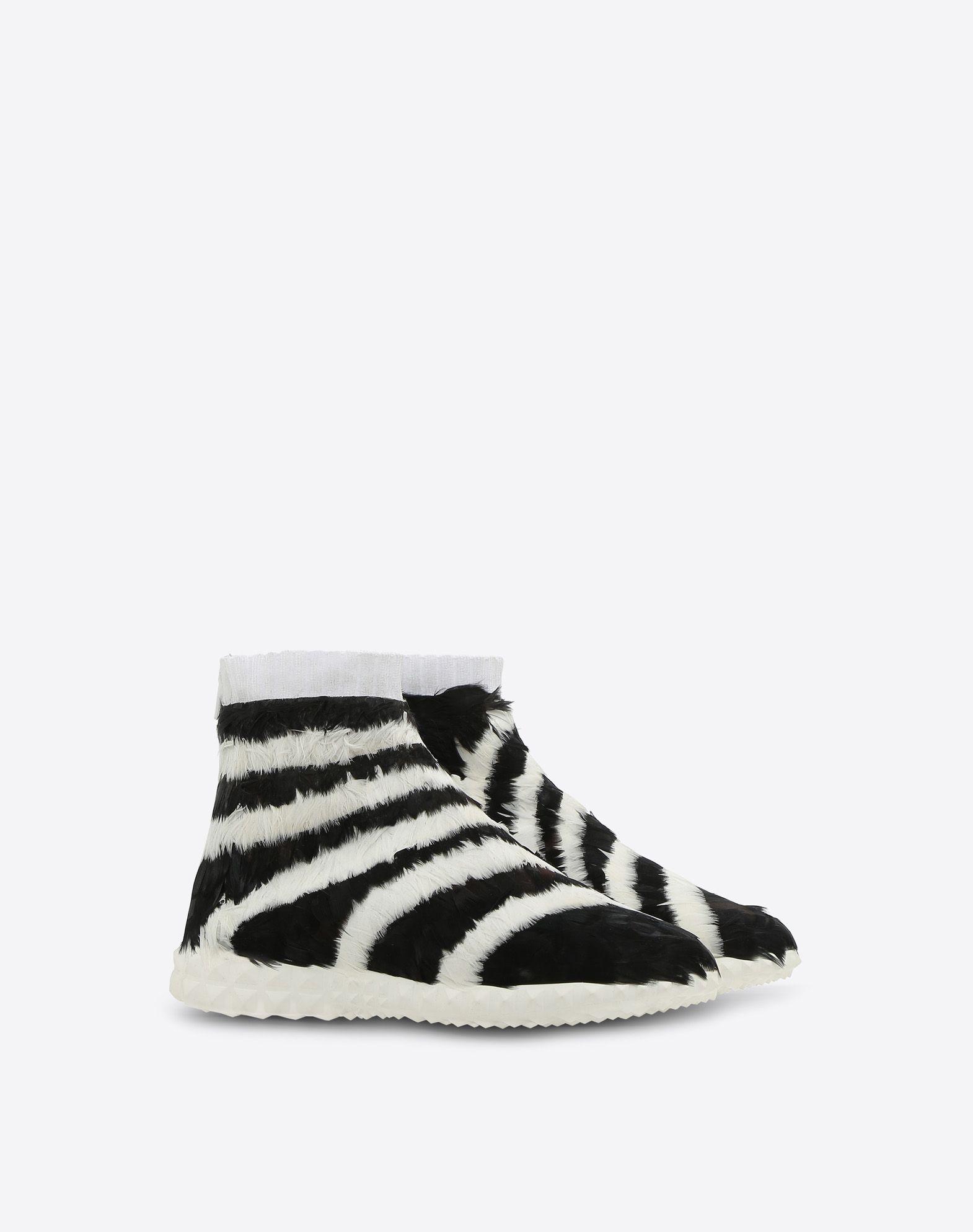 VALENTINO GARAVANI Sneakers con plumas SNEAKERS ALTAS D r