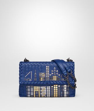 COBALT NAPPA SMALL OLIMPIA TOWER BAG