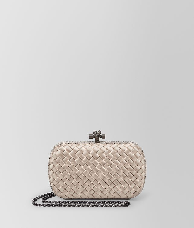 fd6e9df4293b BOTTEGA VENETA MINK INTRECCIATO IMPERO CHAIN KNOT Clutch       pickupInStoreShipping info