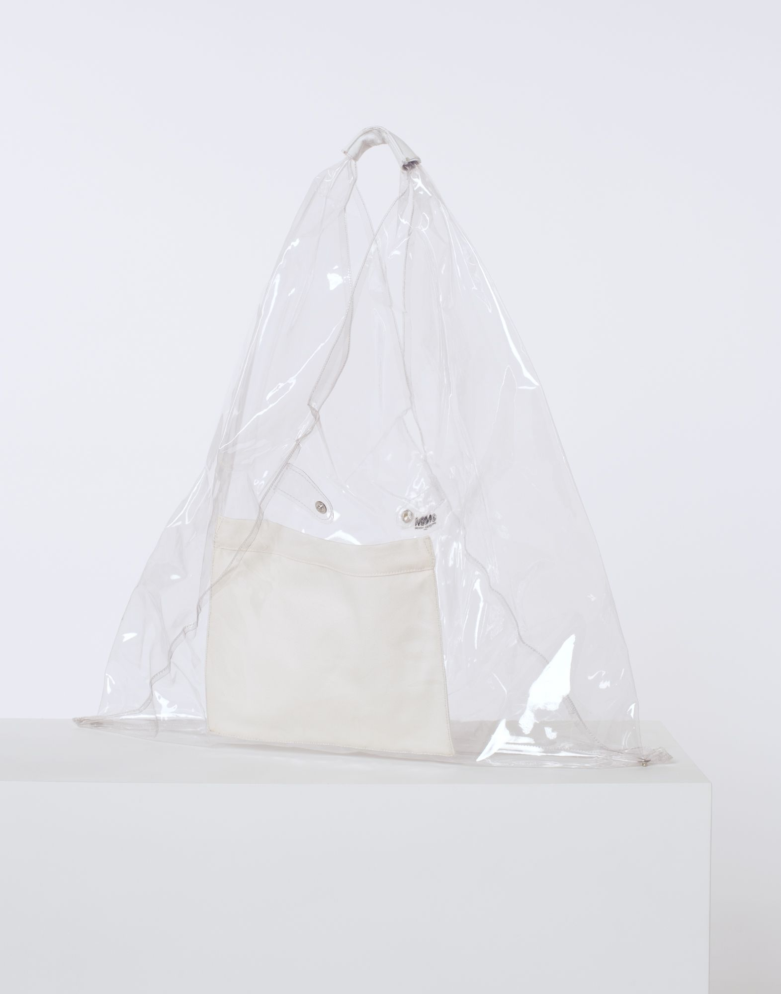 MM6 MAISON MARGIELA Transparent PVC Japanese tote bag Handbag Woman r