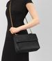 BOTTEGA VENETA NERO INTRECCIATO NAPPA MEDIUM OLIMPIA BAG Shoulder Bag Woman ap