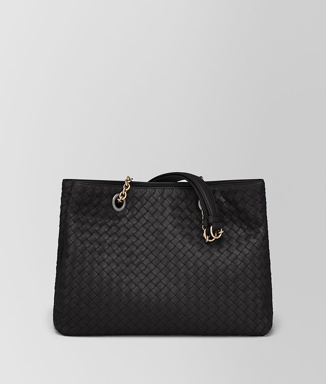 BOTTEGA VENETA NERO INTRECCIATO NAPPA MEDIUM TOTE Tote Bag [*** pickupInStoreShipping_info ***] fp