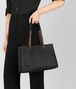 nero intrecciato nappa medium tote Front Detail Portrait