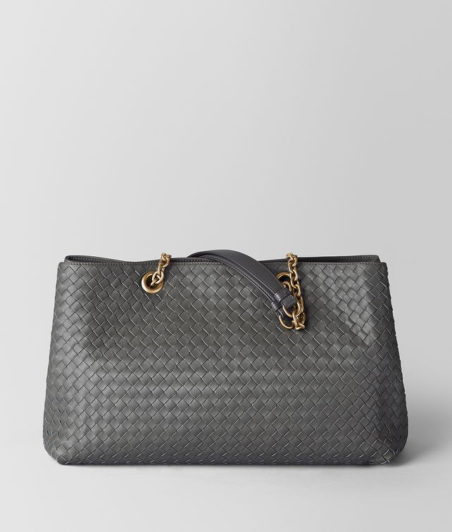 BOTTEGA VENETA SHOPPER IN INTRECCIATO NAPPA LIGHT GREY Borsa Shopping [*** pickupInStoreShipping_info ***] fp
