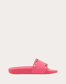VALENTINO GARAVANI SLIDE SANDAL D Rockstud PVC Slide Sandal f