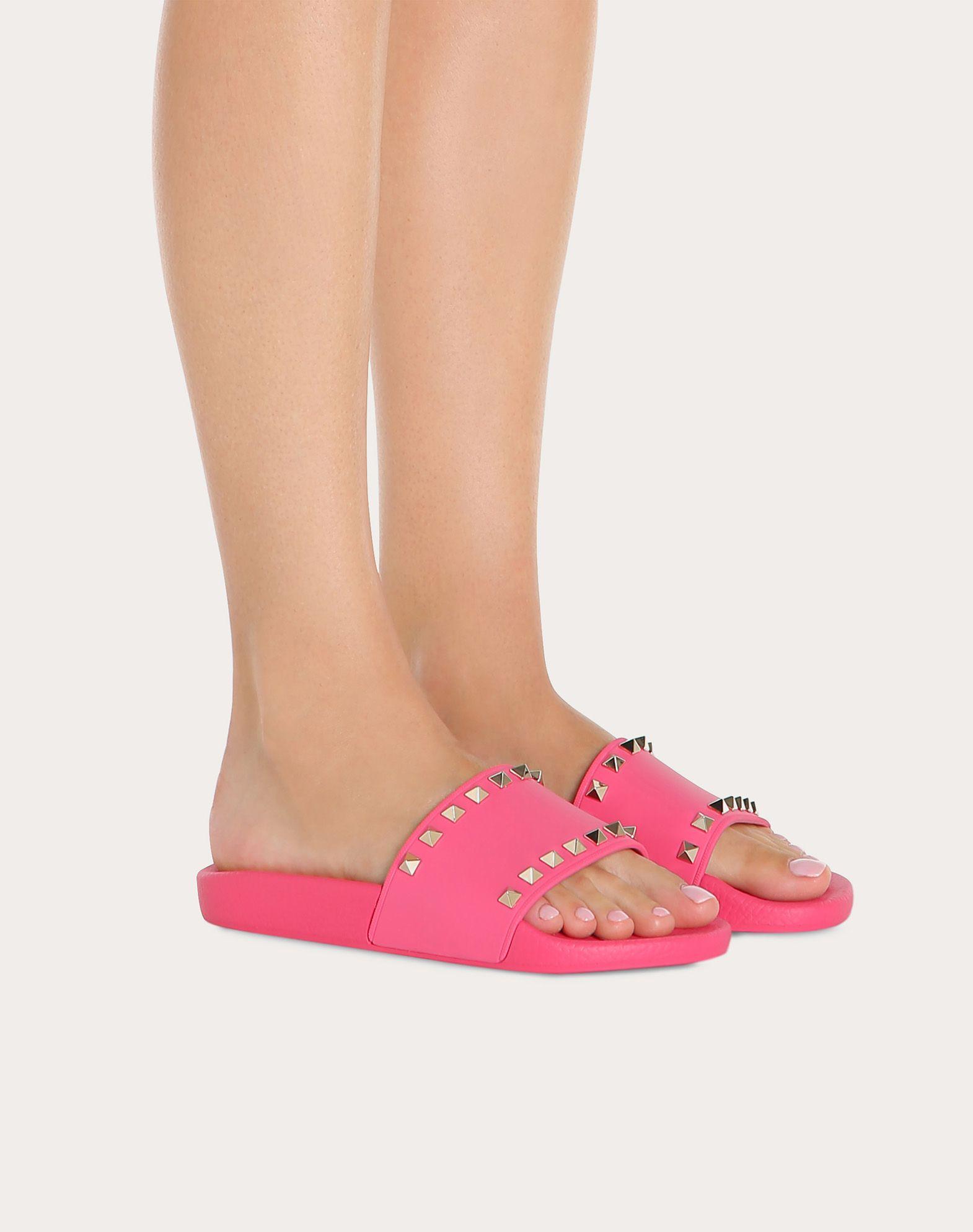 VALENTINO GARAVANI Rockstud PVC Slide Sandal SLIDE SANDAL D b