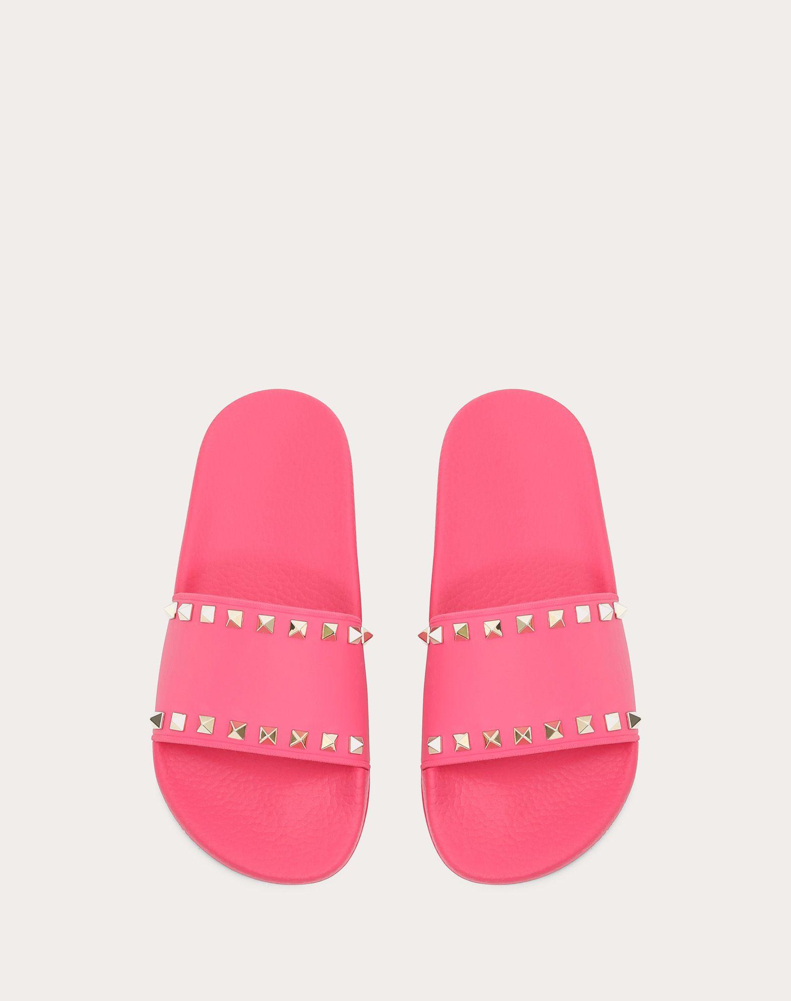 VALENTINO GARAVANI Rockstud PVC Slide Sandal SLIDE SANDAL D e
