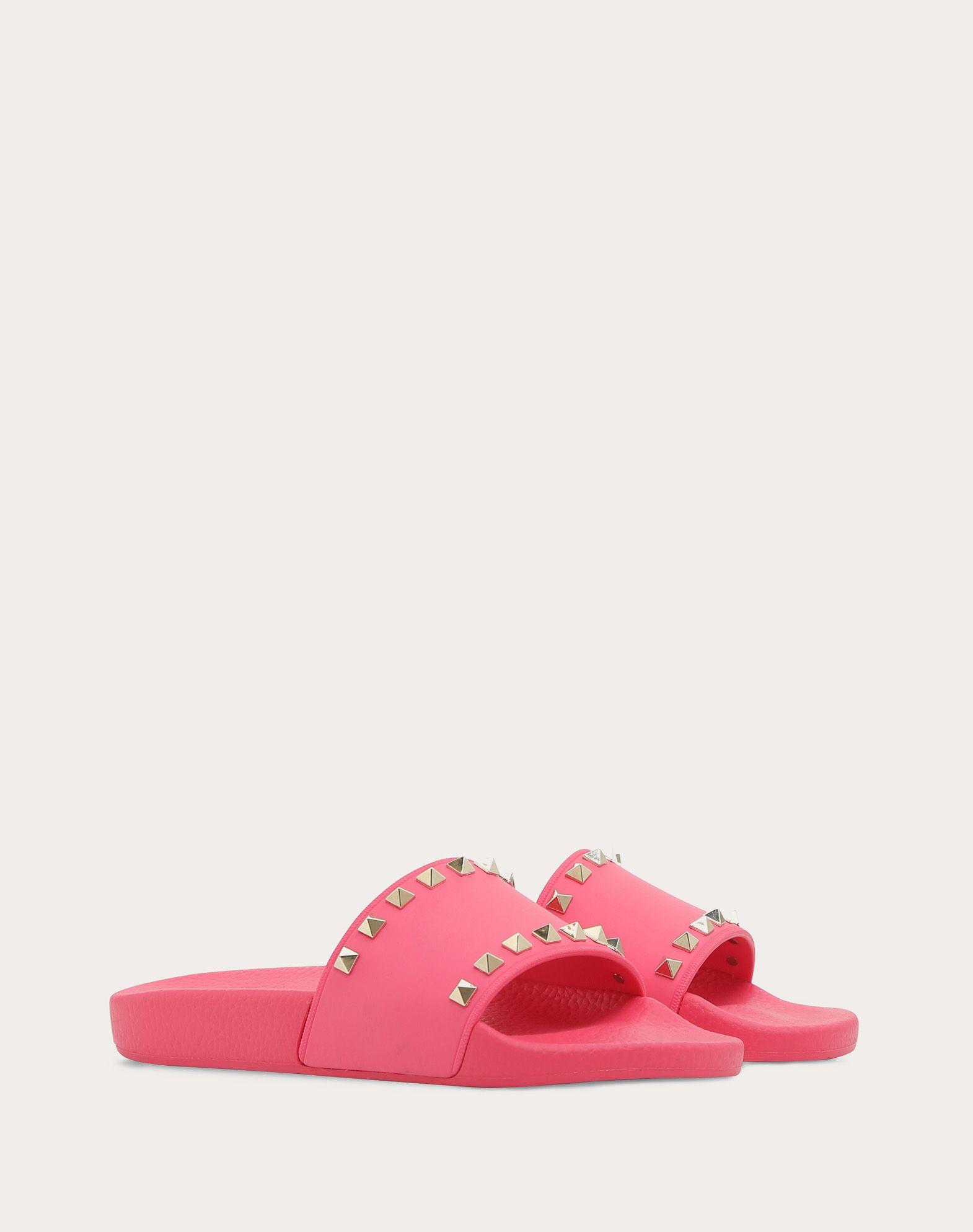 VALENTINO GARAVANI Rockstud PVC Slide Sandal SLIDE SANDAL D r