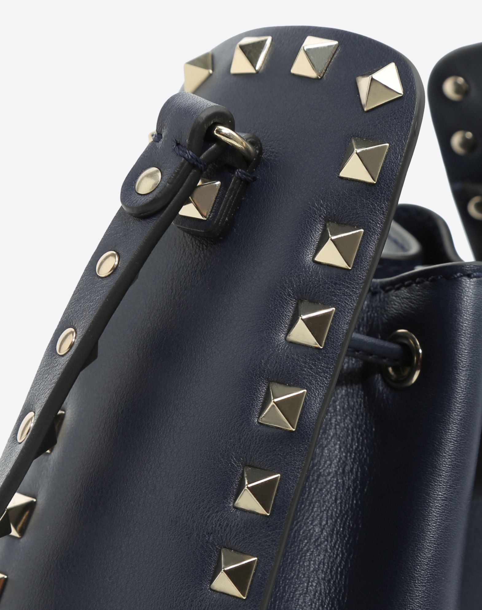 VALENTINO Logo Studs Solid colour Adjustable closure  45381027fr