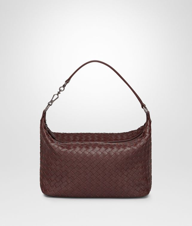 BOTTEGA VENETA DARK BAROLO INTRECCIATO NAPPA SMALL SHOULDER BAG Shoulder Bag Woman fp
