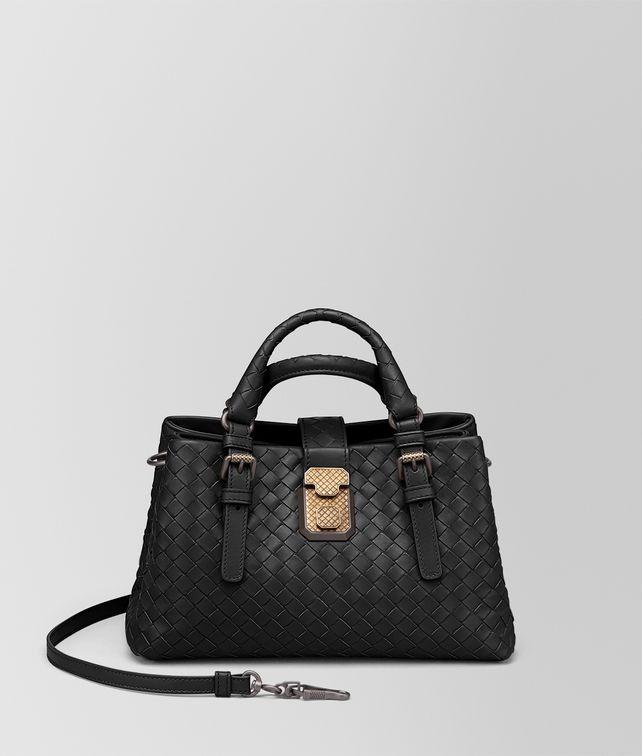 BOTTEGA VENETA NERO INTRECCIATO CALF BABY ROMA BAG Top Handle Bag [*** pickupInStoreShipping_info ***] fp