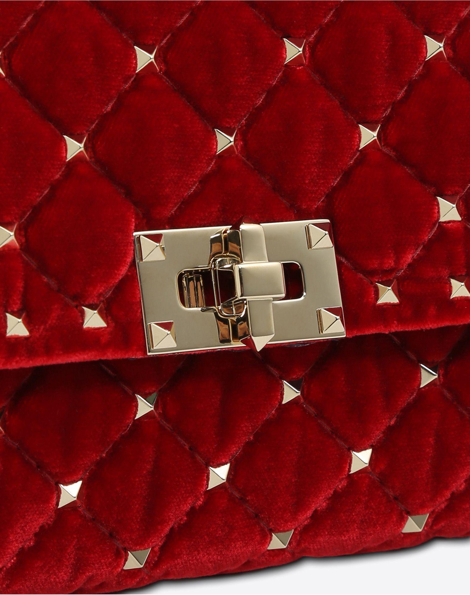VALENTINO GARAVANI Rockstud Spike Chain Bag CROSS BODY BAG D b