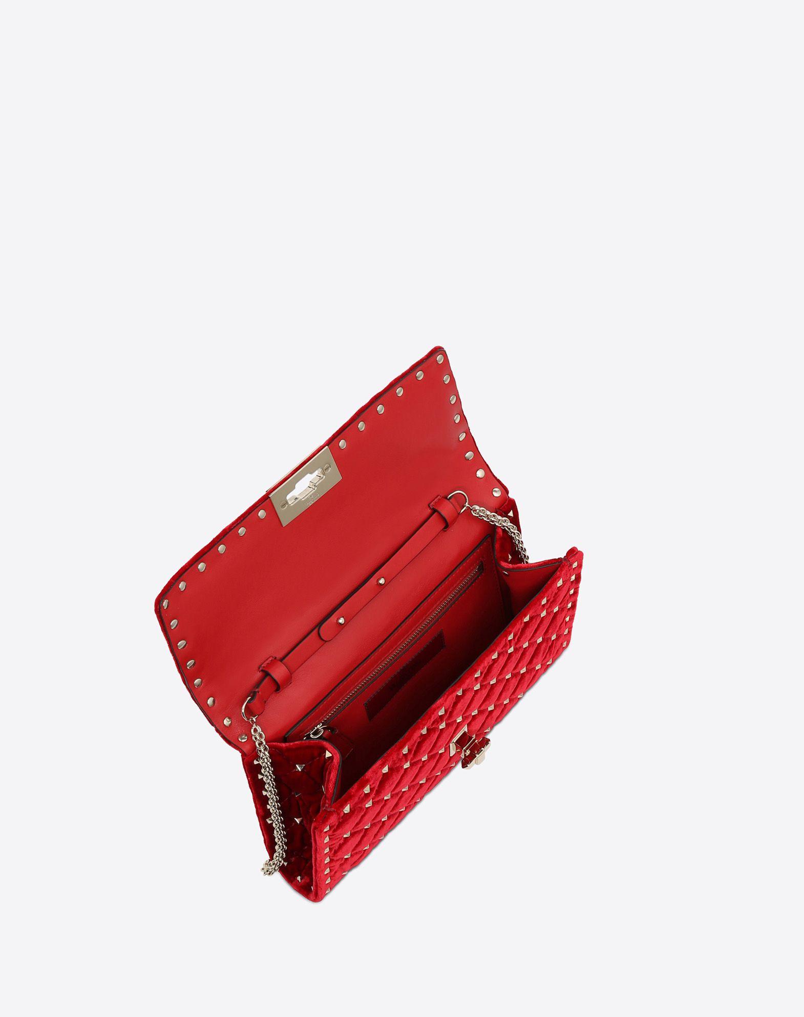 VALENTINO GARAVANI Rockstud Spike Chain Bag CROSS BODY BAG D e