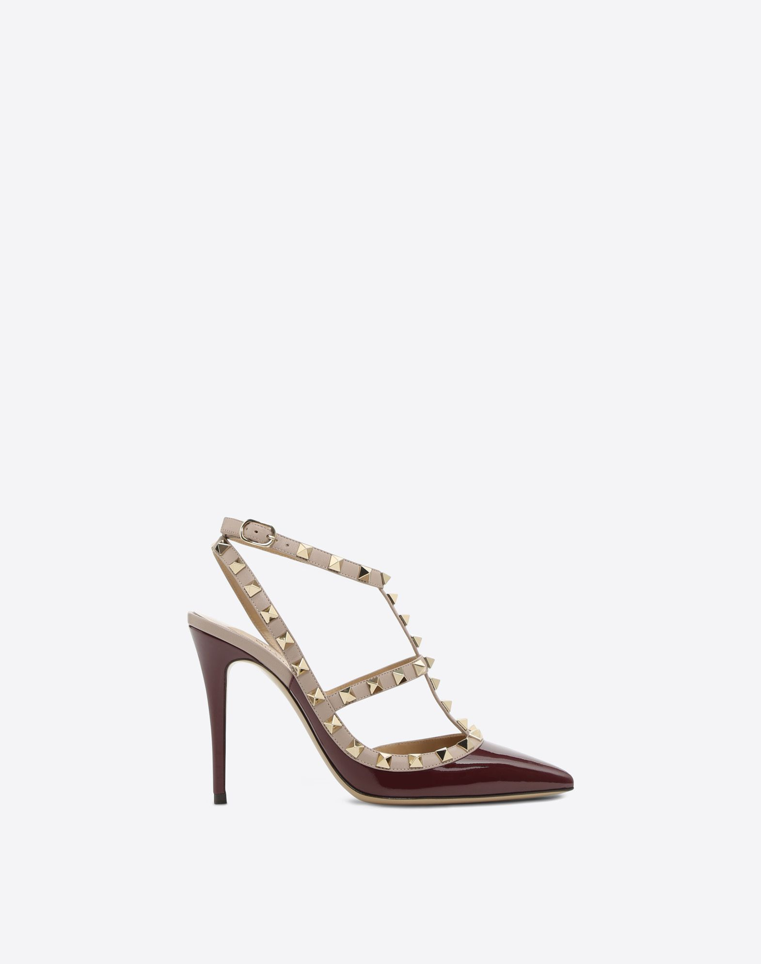 VALENTINO Varnished effect Studs Buckling ankle strap closure  45381165xt