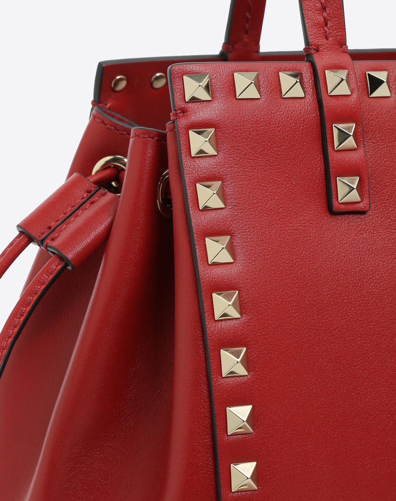 VALENTINO GARAVANI Rockstud Small Double handle Bag HANDBAG D b