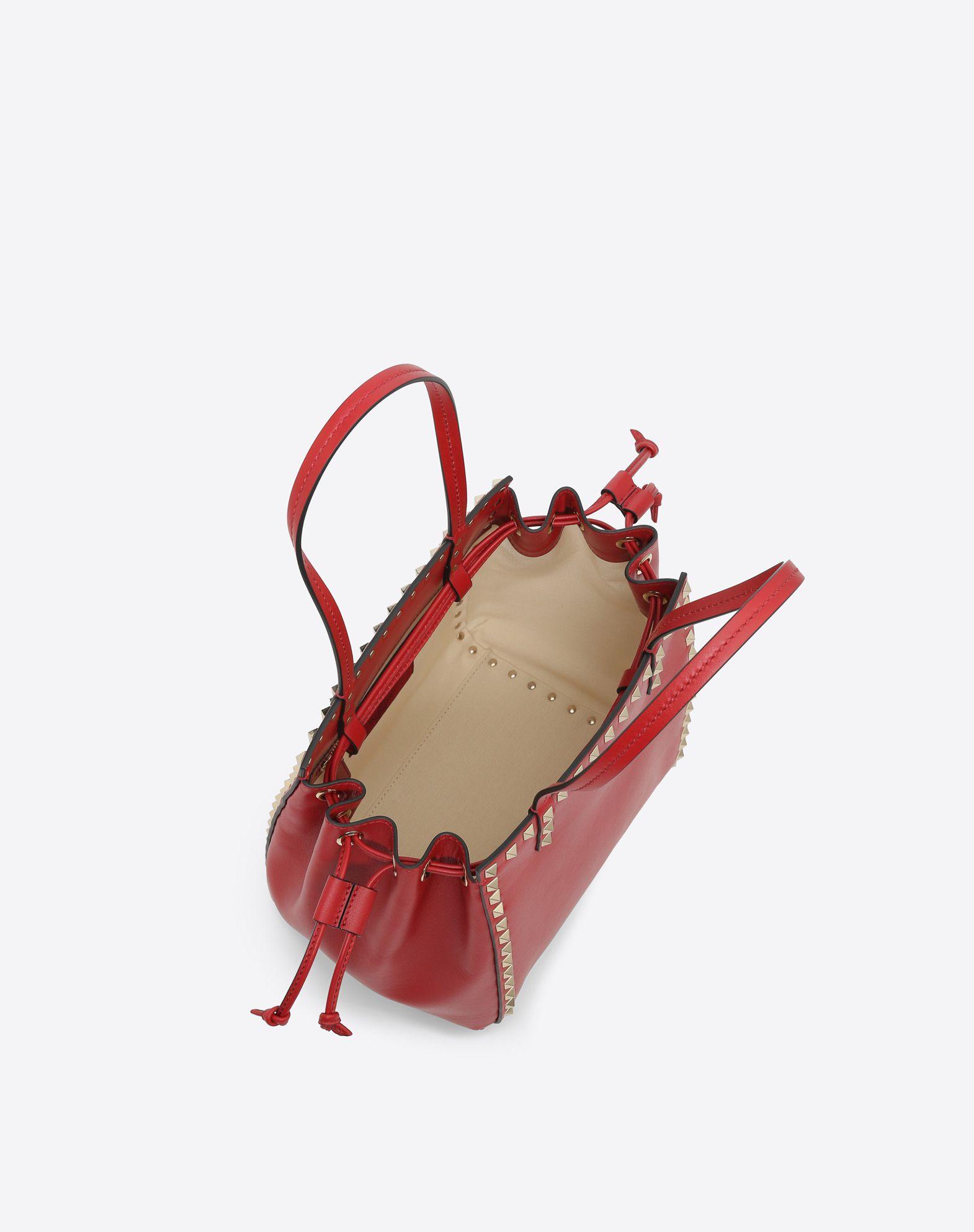 VALENTINO GARAVANI Rockstud Small Double handle Bag HANDBAG D e