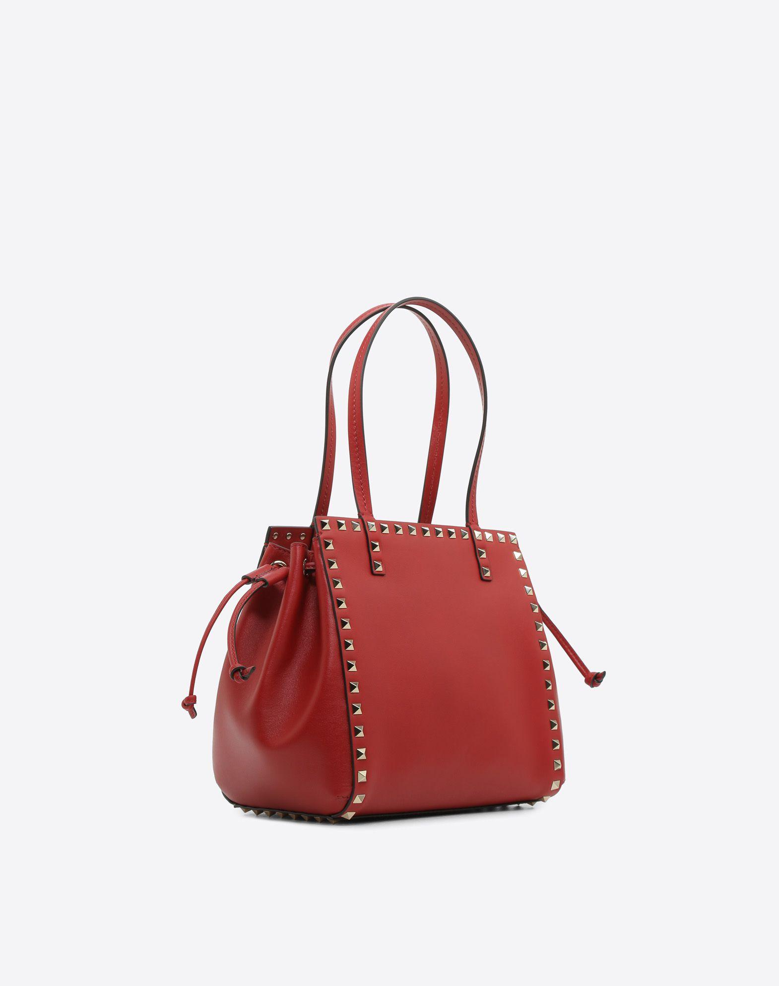 VALENTINO GARAVANI Rockstud Small Double handle Bag HANDBAG D r