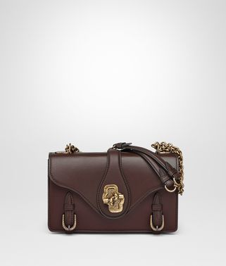 DARK BAROLO CALF CITY KNOT BAG
