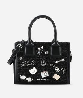 KARL LAGERFELD K/KLASSIK MINI TOTE BAG PINS