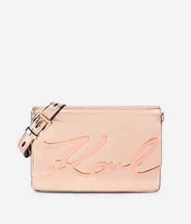 KARL LAGERFELD K/SIGNATURE GLOSS SHOULDERBAG