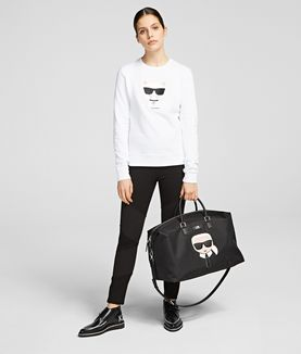 KARL LAGERFELD K/IKONIK BORSA WEEKEND IN NYLON